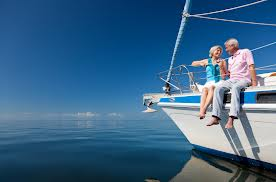 Ret couple on boat